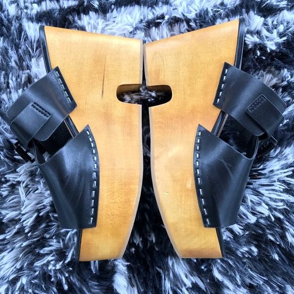 Zara Trafaluc Wooden Block Platform Sandals